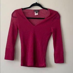 Vintage Bebe shimmering hot pink shirt